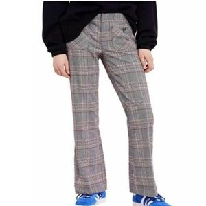 Free People Size 8 Patch Plaid Pocket Pants 3Y38